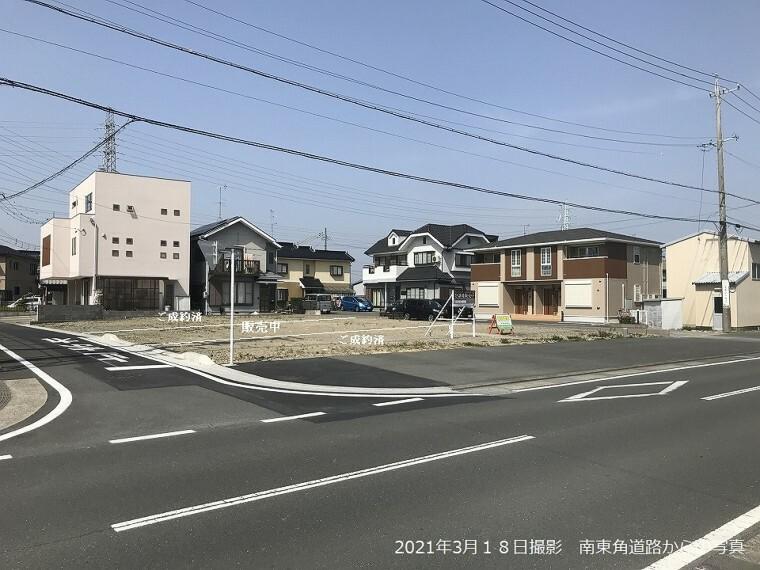 現況写真 東道路側からの写真 (2021年3月撮影)
