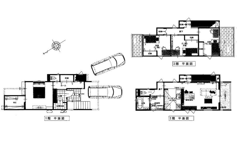 間取り図 4250万円、4LDK、土地面積138.35m2、建物面積108.06m2
