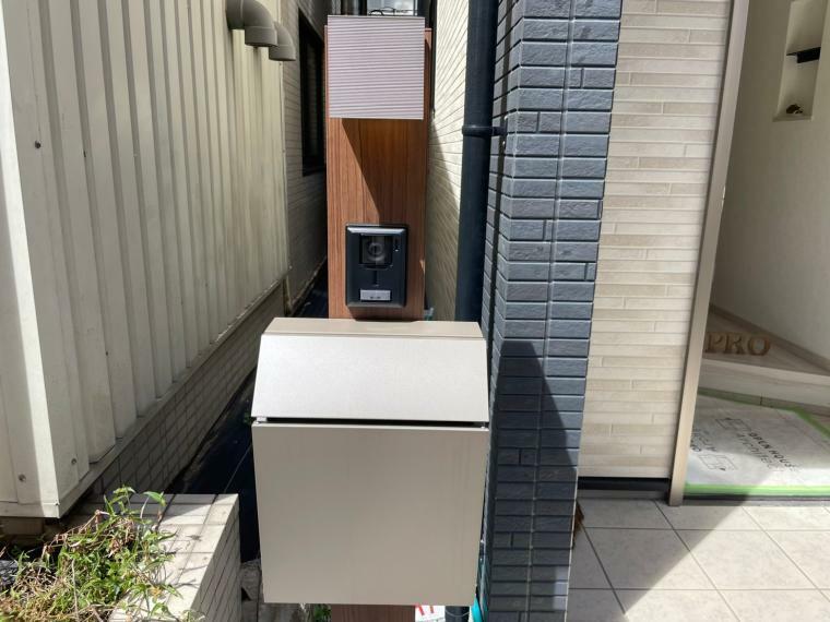 防犯設備 安心のTVモニター付きインターホン&宅配ボックス