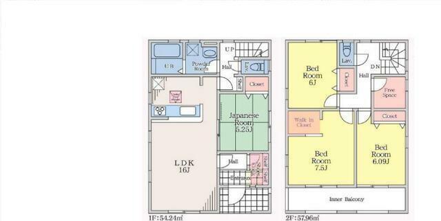 間取り図 4LDK+フリースペース+WIC