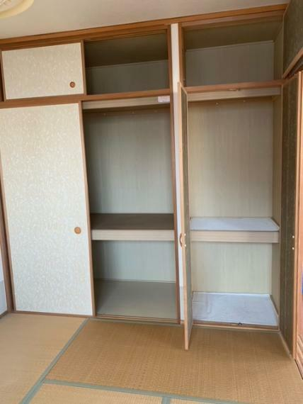 和室 南側バルコニーに面した和室6畳!押入収納付!