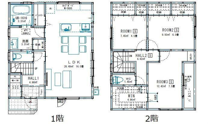 間取り図 3790万円、3LDK、土地面積111.15m2、建物面積95.22m2