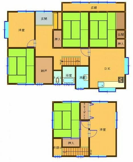 間取り図 【リフォーム企画中】現況の間取り図です。LDKを広くとり、開放感のあるお家にリフォームしていきたいと思います。