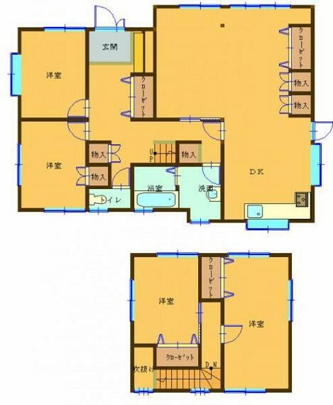 間取り図 【リフォーム中】RF後の間取り図です。LDKを広くとり、開放感のあるお家に仕上がる予定です。