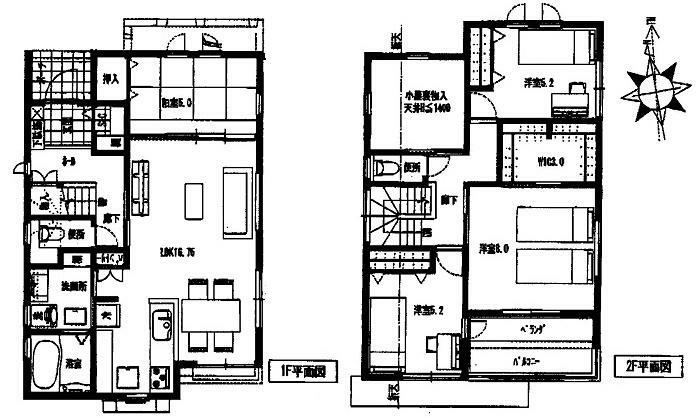 間取り図 3590万円、4LDK、土地面積131.05m2、建物面積103.51m2