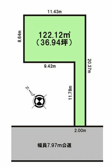 土地図面 人気の千葉市中央区新宿1丁目!!