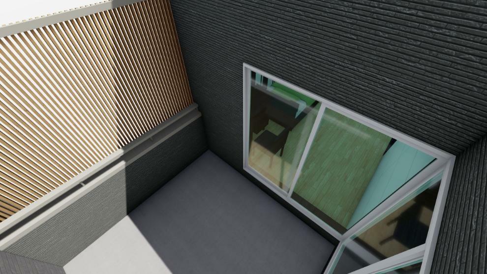 完成予想図(内観) バルコニー スクリーン完成イメージ(家具は含みません)