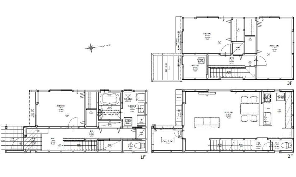 間取り図 2980万円、3LDK+S(納戸)、土地面積99.71m2、建物面積113.44m2