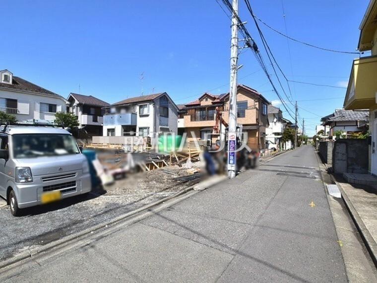 現況写真 接道状況および現場風景 【小平市津田町3丁目】