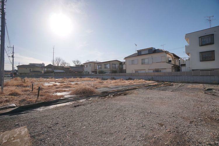 現況写真 武蔵野市八幡町1丁目の土地分譲。中央線「三鷹」駅徒歩25分の便利な立地です。