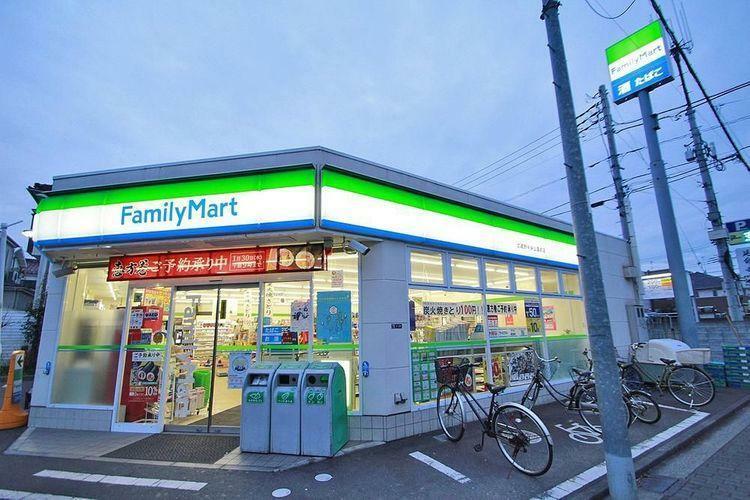 コンビニ ファミリーマート武蔵野中央公園前店 徒歩3分。