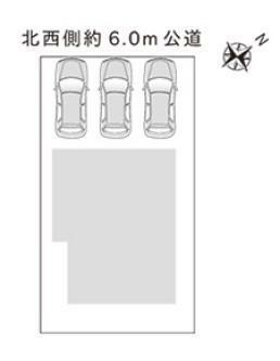 区画図 駐車ラクラク3台