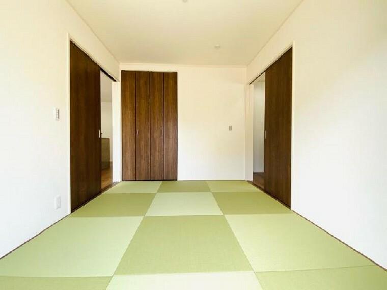 C号棟 和室~完成しました~・・・玄関から直接案内できる間取りの和室は、急な来客でも安心ですね