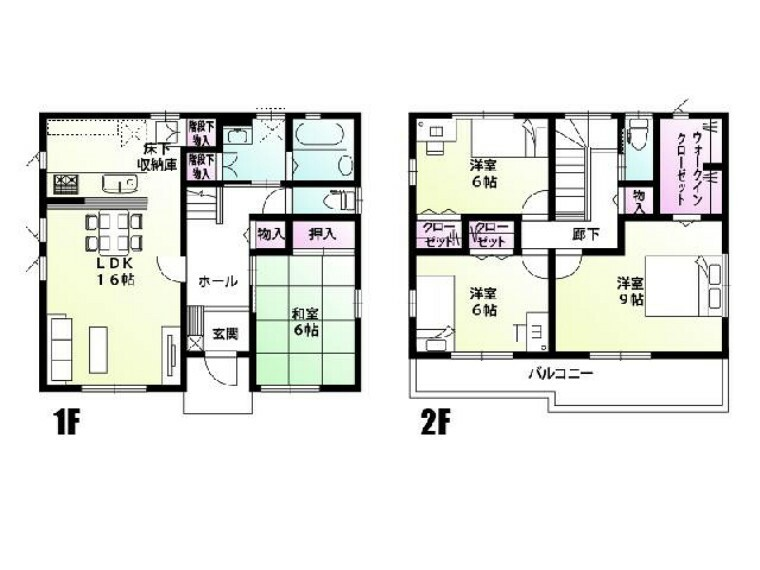 間取り図 D号棟 間取図・・・家事動線が考えられた使い勝手の良い間取りで、収納がたくさんあるのが魅力です。