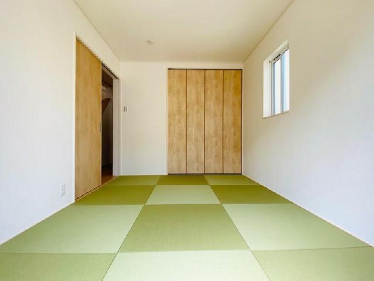 D号棟 和室~内覧できます~・・・急な来客時や趣味のお部屋としてお使いいただけます。