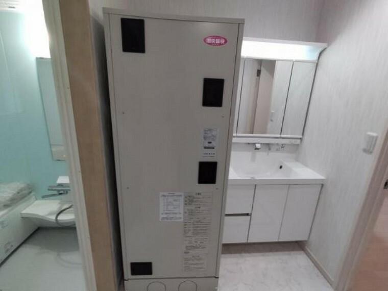 発電・温水設備 【リフォーム後電気温水器】設備点検を行いました。