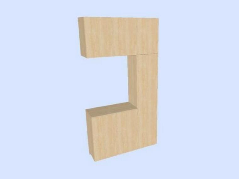 玄関にはコの字タイプのシューズボックスを新設しました。約52足収納でき、棚板は取り外して洗えるお手入れしやすい仕様です。