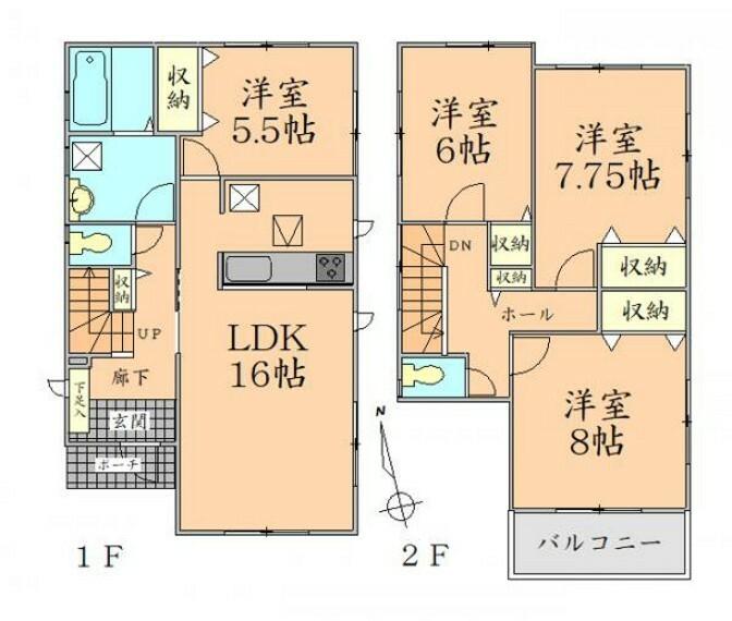 間取り図 間取り図 全居室2面採光の明るい住まい