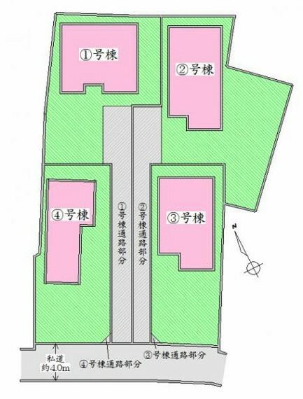 区画図 配置図 駐車スペース有