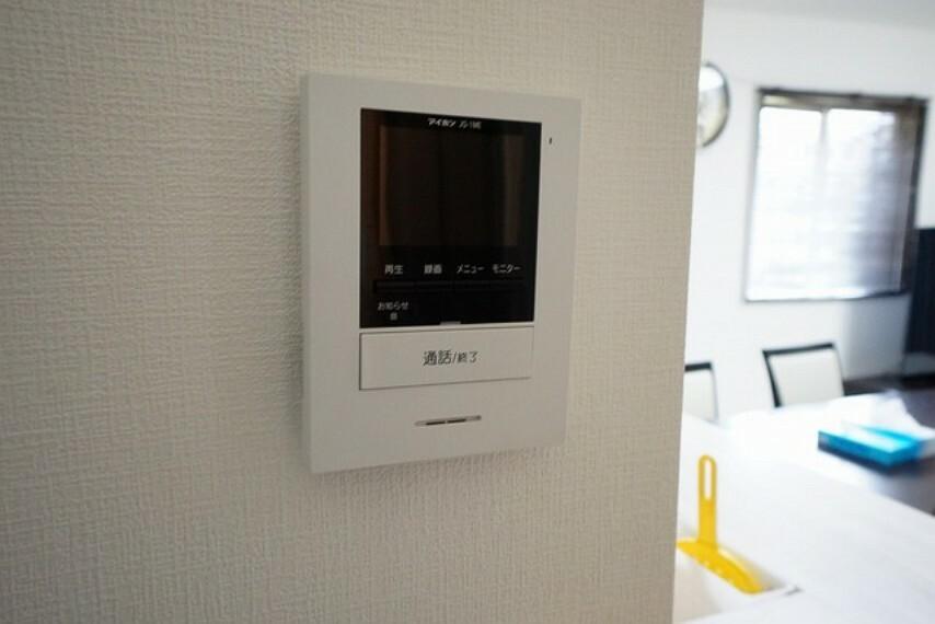 防犯設備 防犯性、セキュリティ対策に安心できるテレビモニター付きインターフォンです。
