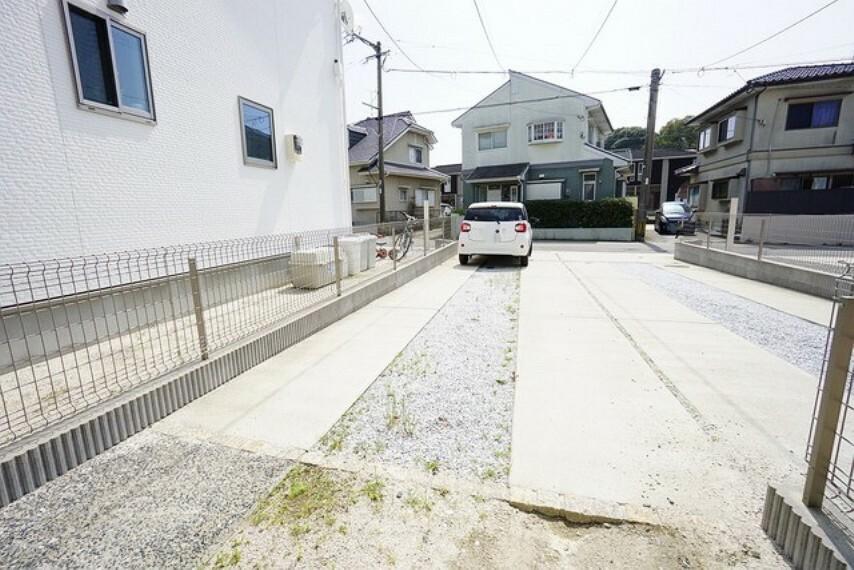 駐車場 広々とした駐車スペースです。2台止められる駐車場付きです。