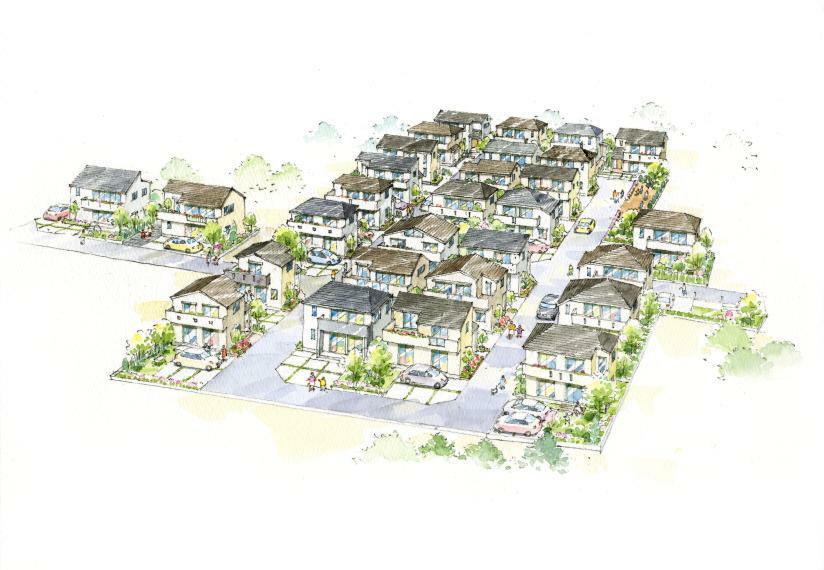 土地図面 オリーブタウン全29棟 街並みイメージ