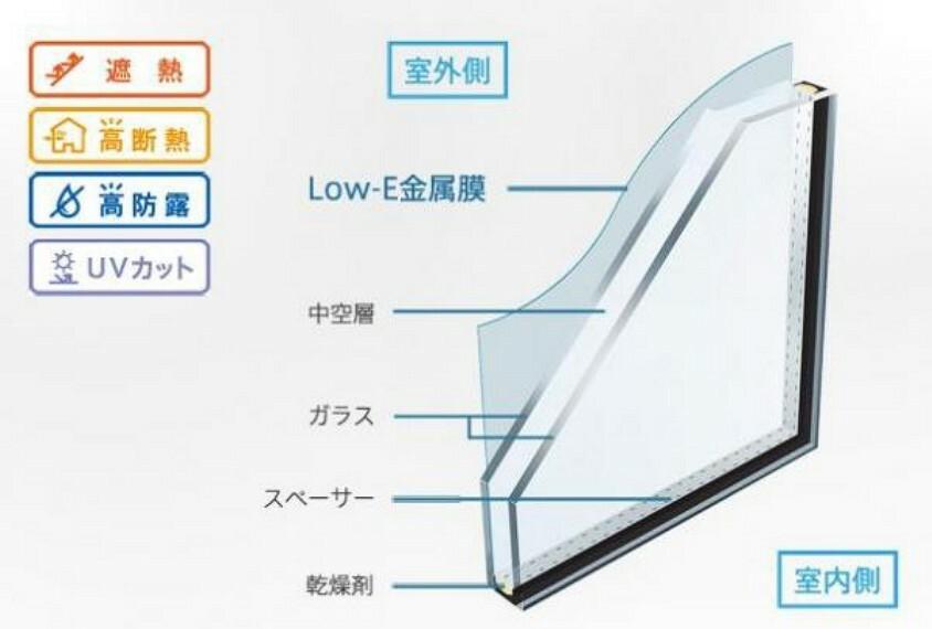 【Low-E複層ガラス】全居室のサッシに採用!強烈な日射熱や紫外線をカットし、冬は窓辺や足元の冷え込みを軽減!