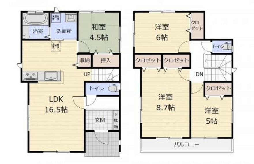 間取り図 (間取)水回りが近い2wayキッチンで最小限の動作で家事が可能になりました!