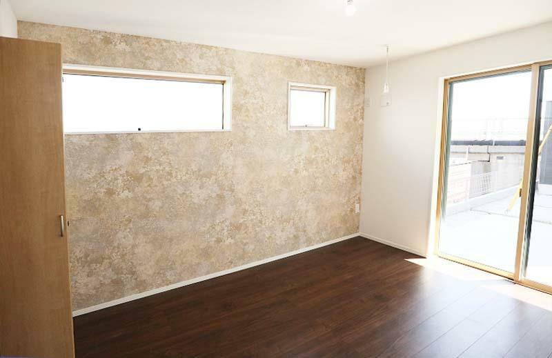 完成予想図(内観) 採光部を大きく取り明るく解放的な室内を実現しました。【施工例】