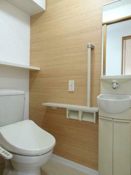 トイレ 快適な温水洗浄便座。