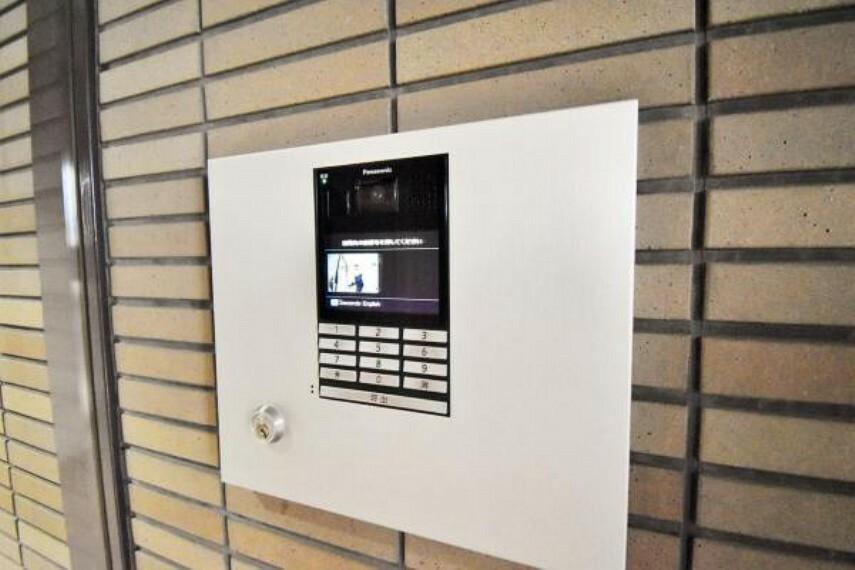 防犯設備 安心のTVモニター付インターフォン完備