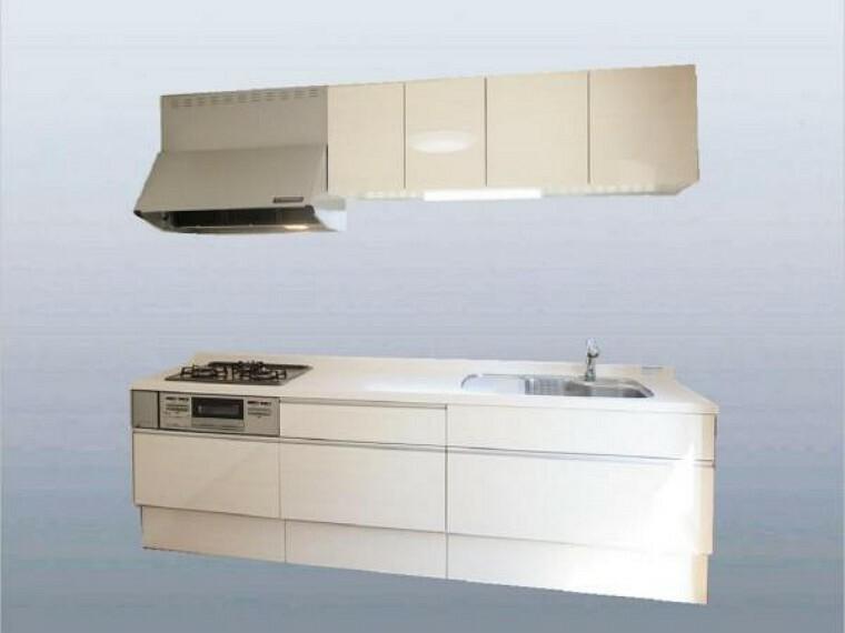 【同仕様写真】キッチンは永大産業製の新品に交換します。天板は熱や傷にも強い人工大理石仕様なので、毎日のお手入れが簡単です。