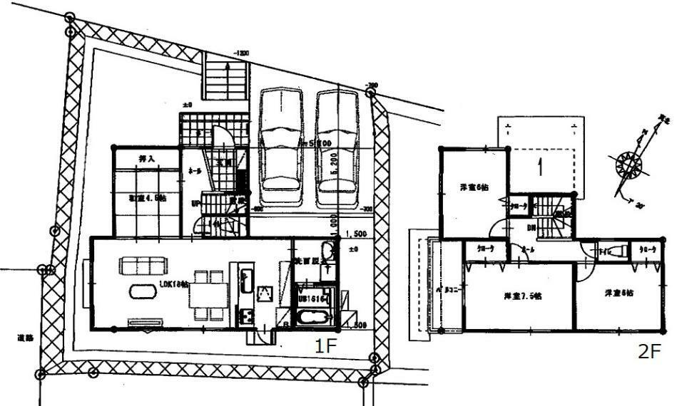 間取り図 2850万円、4LDK、土地面積168.44m2、建物面積101.02m2
