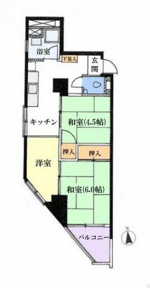 間取り図 ■現況間取り■11階部分の南向き角住戸で陽当り、眺望良好