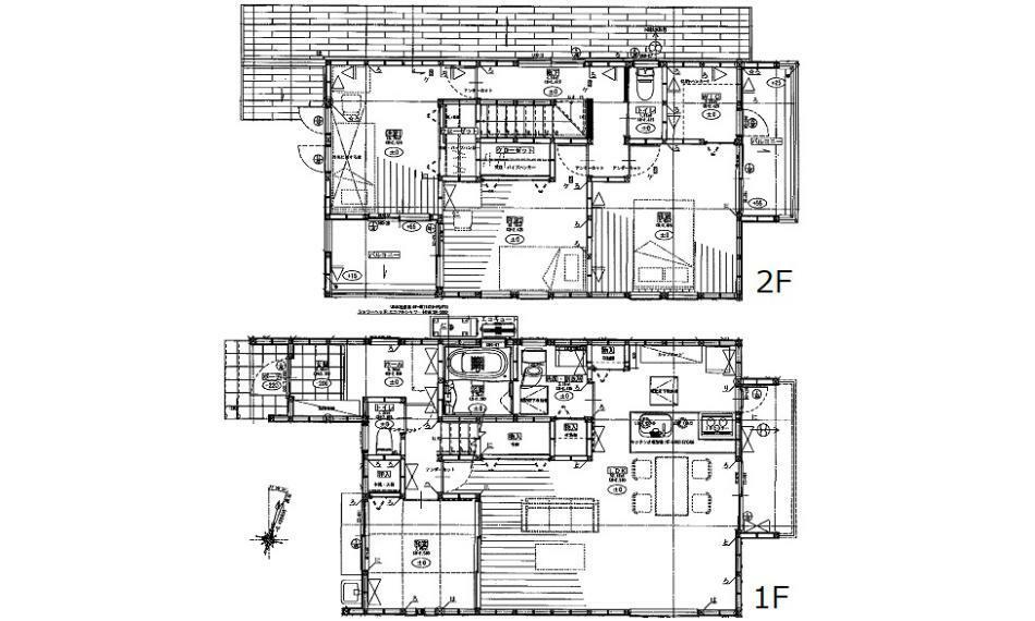 間取り図 3480万円、4LDK、土地面積166.28m2、建物面積110.95m2