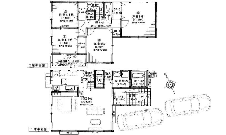 間取り図 3180万円、4LDK、土地面積135.88m2、建物面積105.99m2 AL毘沙門台駅徒歩11分