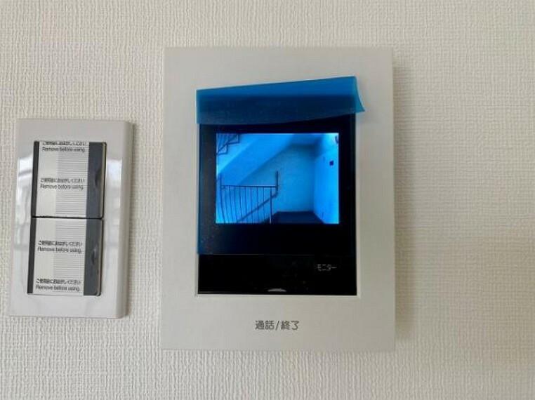 防犯設備 TVモニター付インターホンは相手のお顔がはっきり確認できます