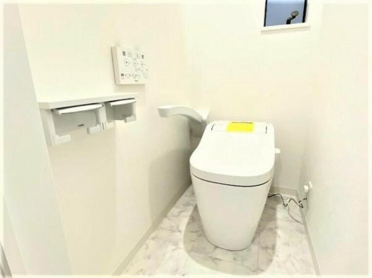トイレ 手摺り付きで高齢者の方にも優しい