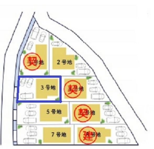 区画図 3号地(2021.5月時点)