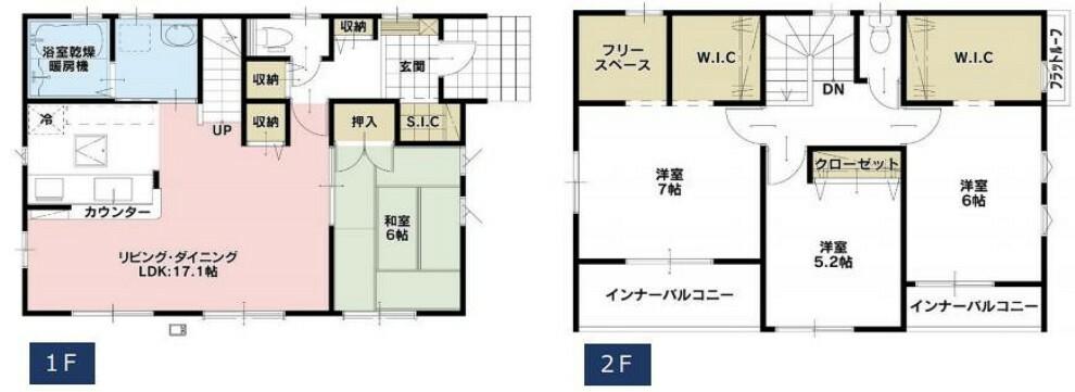 間取り図 閑静な住宅地44坪以上の広々とした敷地の邸宅です。