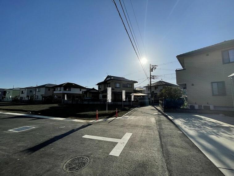 現況写真 整理された区画に新築が立ち並ぶ様子にワクワクしますね。