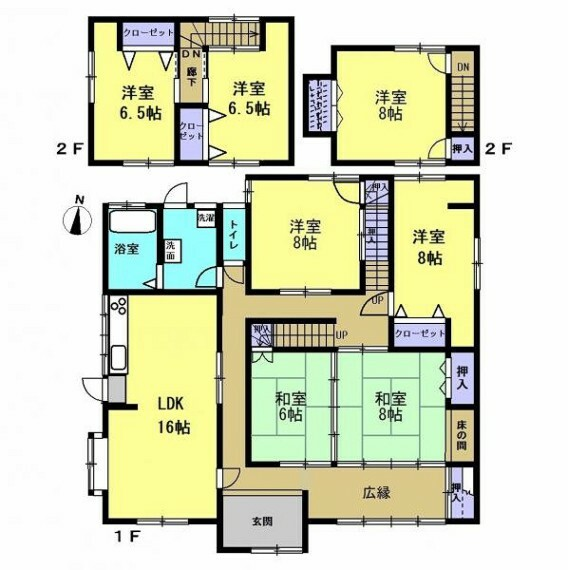間取り図 【リフォーム中】7LDKの間取に変更予定です。各居室に収納もあるので、部屋を広々と使えます。