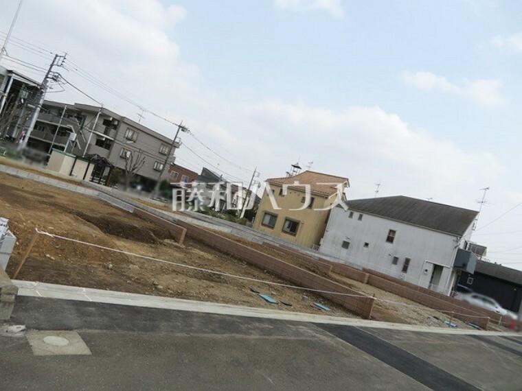 現況写真 接道状況および現場風景 【稲城市押立】