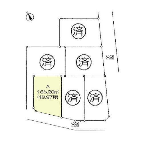 土地図面 区画図:A区画