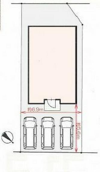 区画図 駐車3台可能