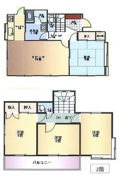 間取り図 【RF後間取り】4LDKのお家です。