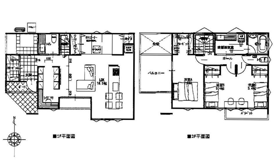 間取り図 3990万円、4LDK、土地面積198.34m2、建物面積111.37m2 JR緑井駅徒歩5分