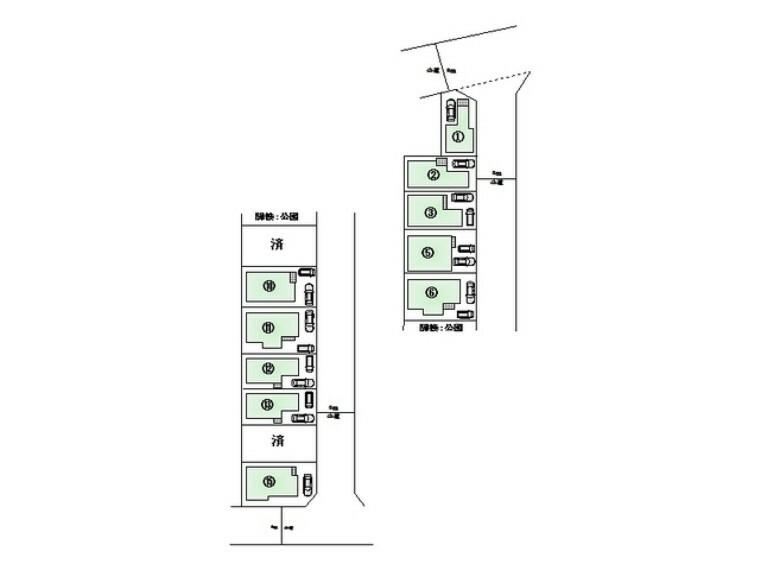 区画図 区画図■立川市幸町4 新築一戸建て■