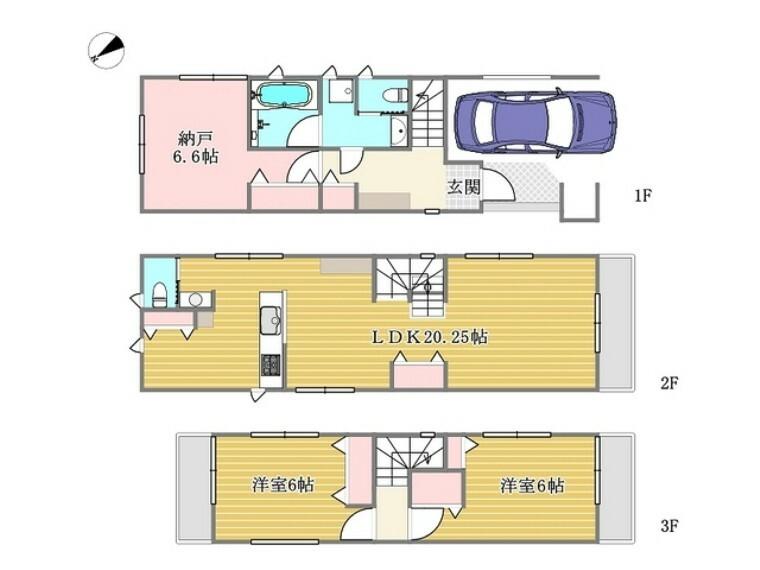 間取り図 D号棟■府中市白糸台1 新築一戸建て■