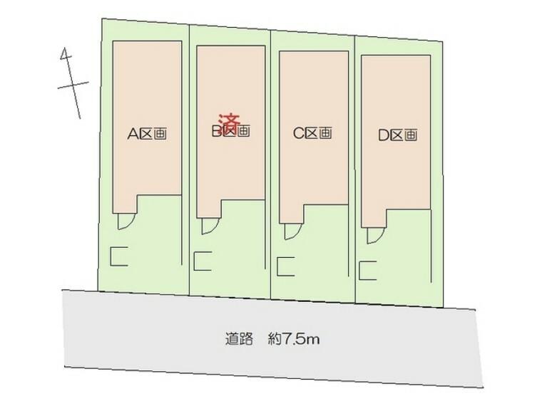区画図 区画■府中市白糸台1 新築一戸建て■